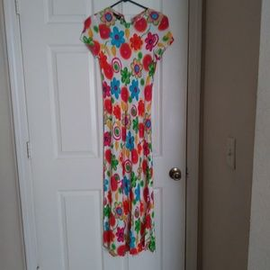 Vintage White and Floral pattern dress.